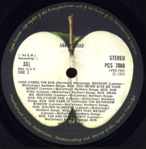 Apple Records - Abbey Road Side B