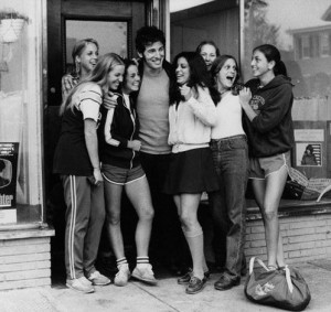 Bruce Springsteen and fans, circa 1980. HipQuotient.com