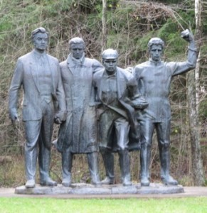Commie statues in Latvia