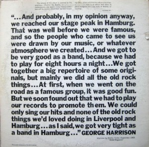 George Harrison Liner Notes