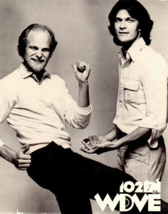 Little Jimmy Roach (right) and Steve Hansen of the WDVE morning show, circa 1982.