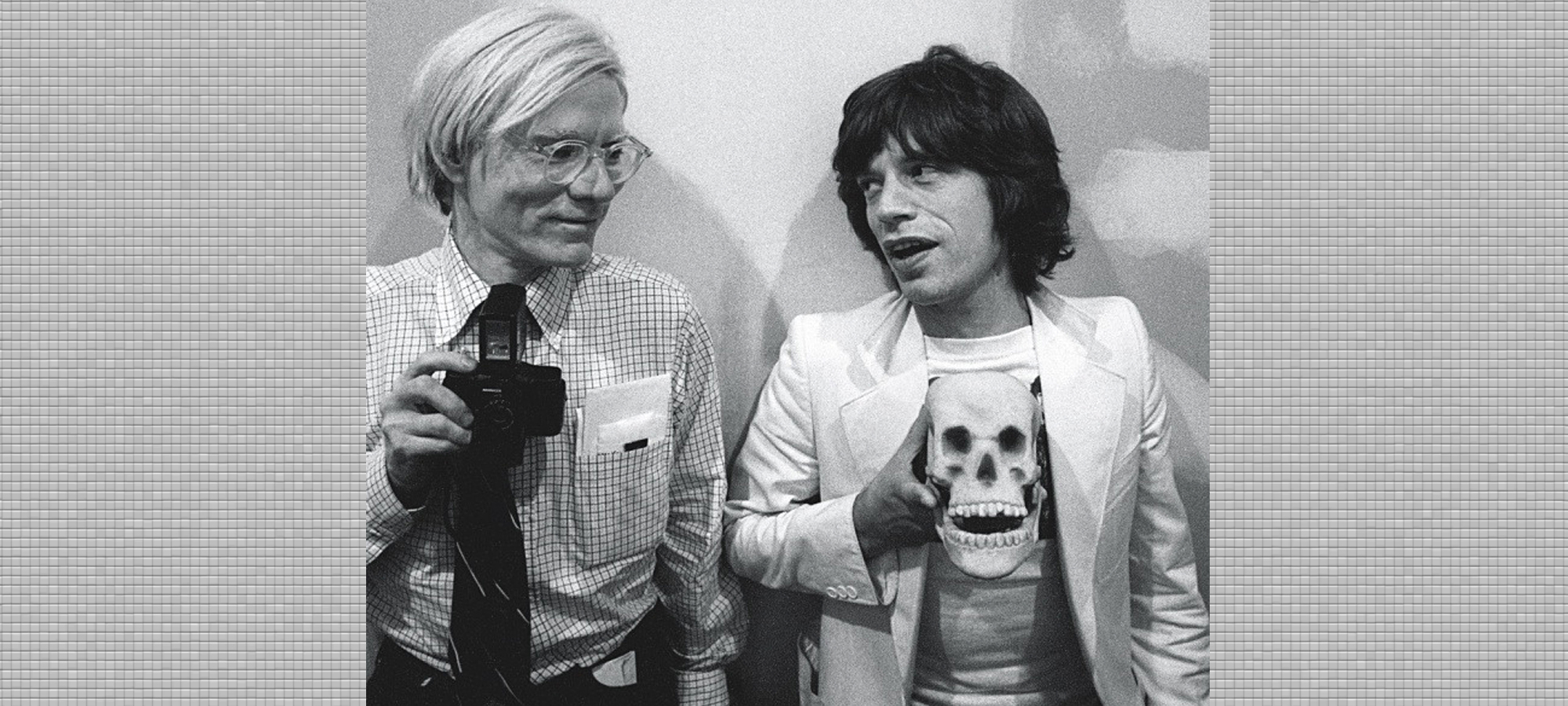 Andy Warhol and Mick Jagger.  HipQuotient.com