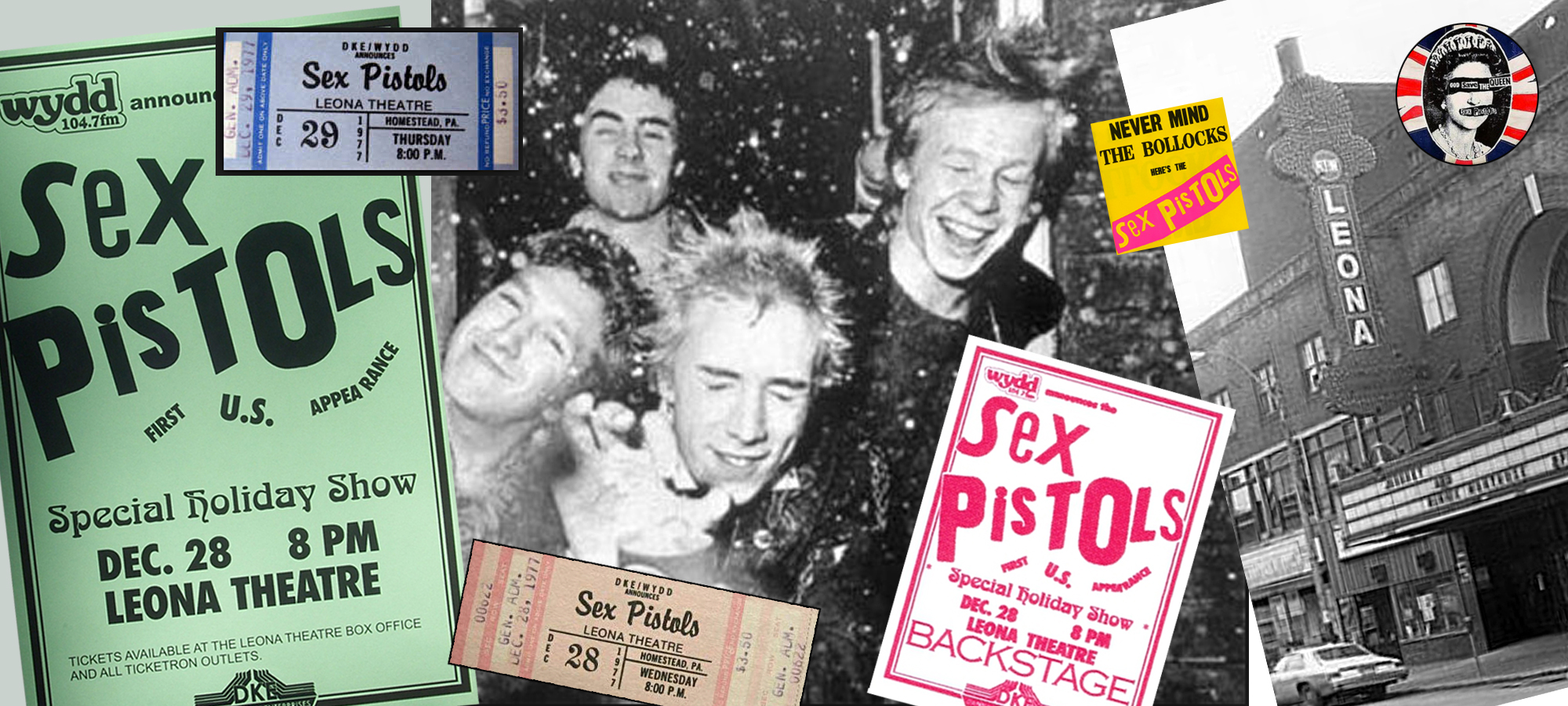 The Sex Pistols - cancelled show in Homestead, PA, Dec 28, 1977