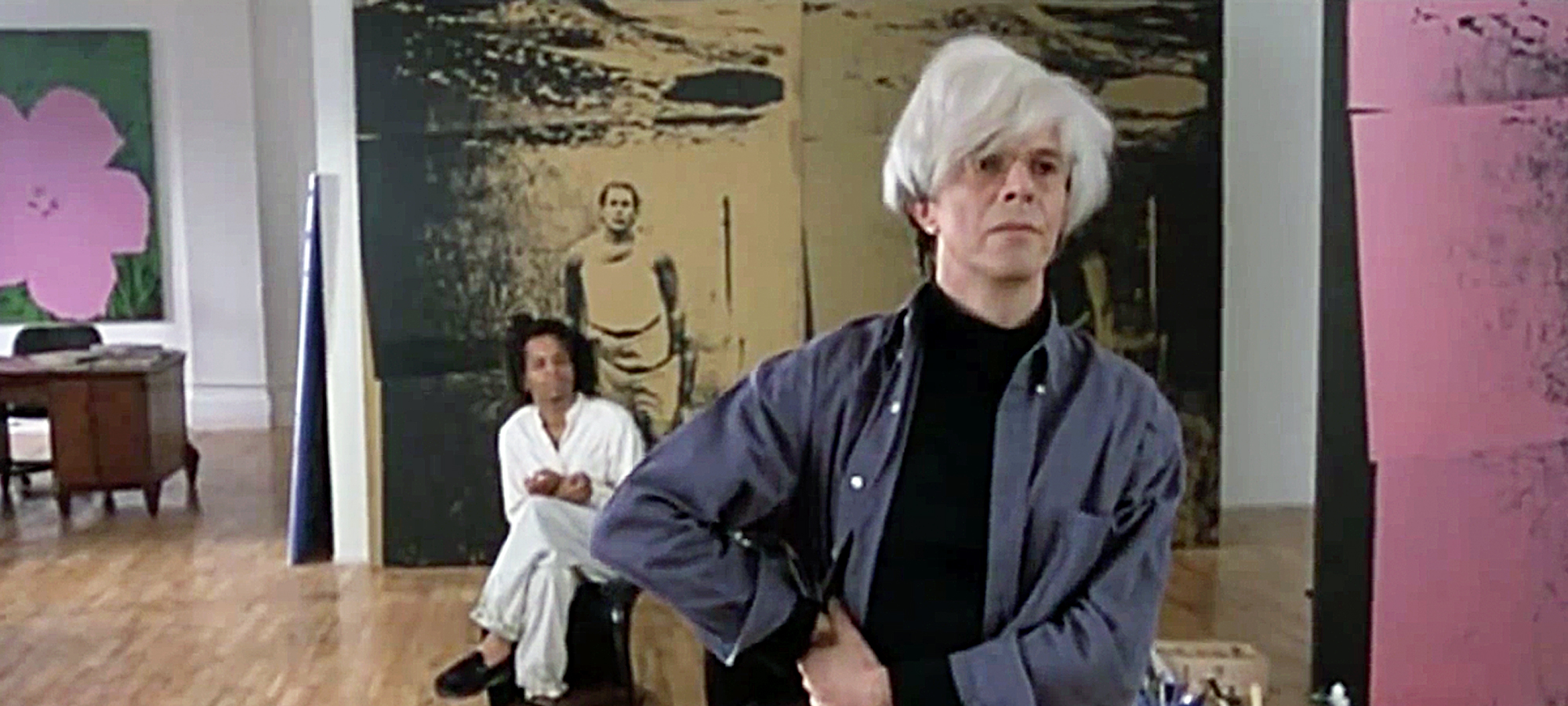 "David Bowie as Andy Warhol in ""Basquiat"""