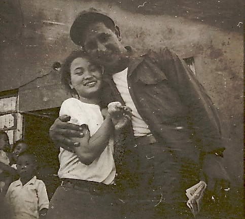 Fred Spiardi and Korean girl, 1951